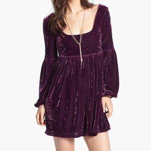 Free People 'Oh So Easy' Velvet Babydoll Dress